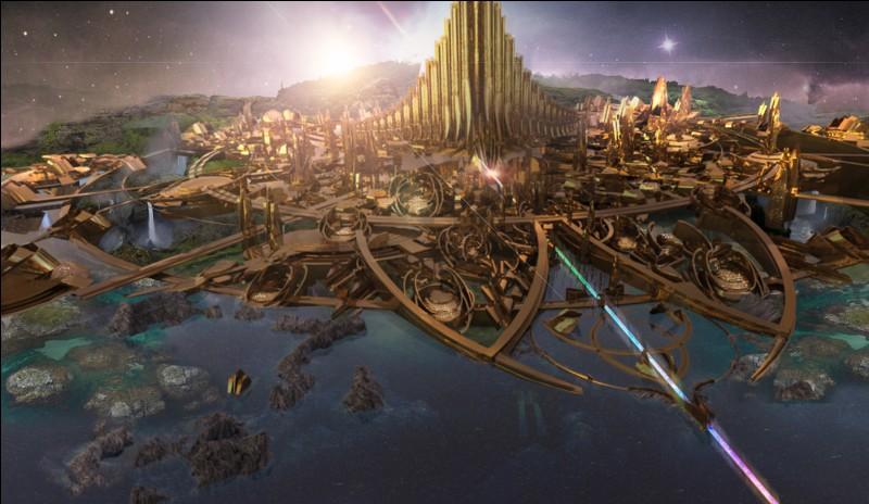 Où Thor décide-t-il d'emmener le peuple Asgardien ?