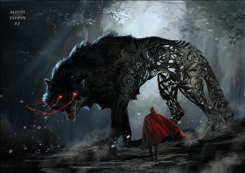 Comment s'appelle le loup géant ?