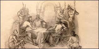 En quelle année les trois petits-fils de Charlemagne ont-il conclu le traité de Verdun ?