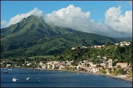 Sur quelle île se trouve la montagne Pelée ?