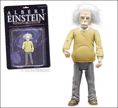 Eh oui, on a même fait des poupées avec des scientifiques de renom, comme ici le célèbre Albert Einstein. L'acteur Walter Matthau a joué le rôle d'Einstein dans une petite comédie charmante, avec Meg Ryan. Quel est le titre de ce joli film ?