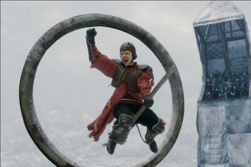 Le sport pratiqué est le Quidditch.