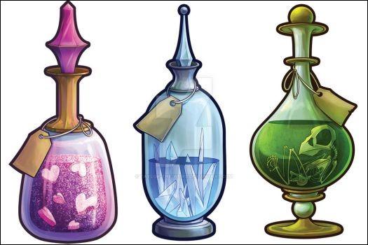 L'un des cours enseignés est le cours de potions.