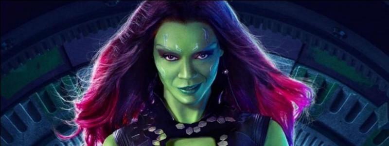 Je suis verte, je suis la fille adoptive de Thanos et je suis en couple avec Peter Quill (Star Lord). Qui suis-je ?