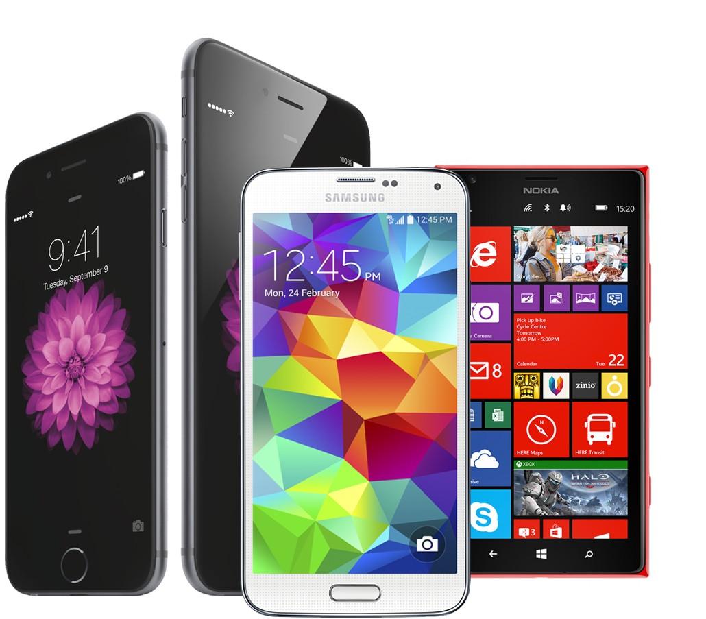 Les téléphones portables : Samsung, iPhone