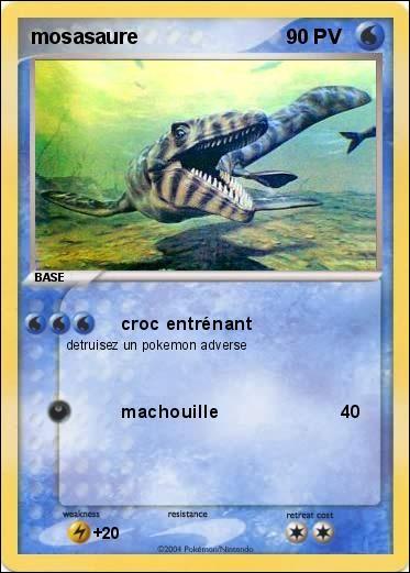 Quel est le reptile marin de cette carte ?