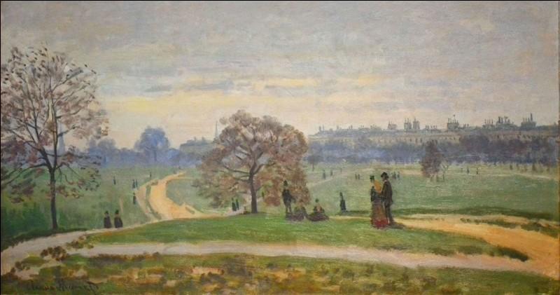"""Claude Monet """"... Park"""" c. 1871.Ce n'est pas là que vous dévelopez votre discours ?"""