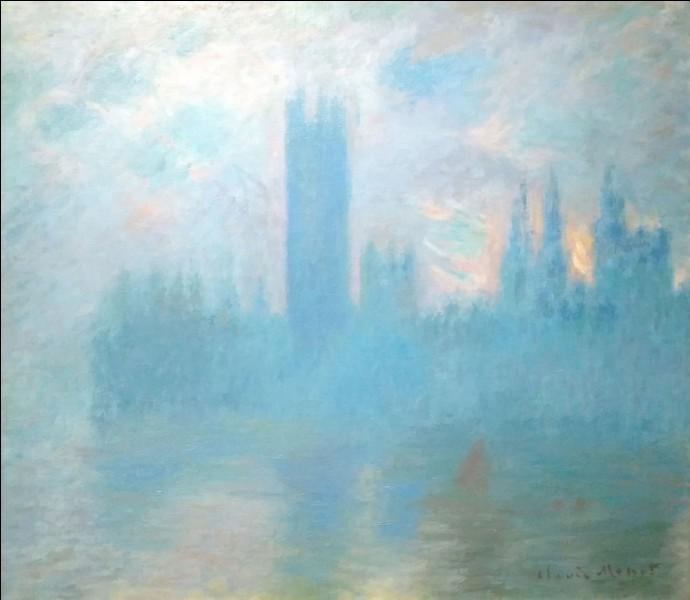 """Claude Monet """"Londres, le Parlement"""" c.1900-01Une affiche sublime, mais de quelle exposition ?"""