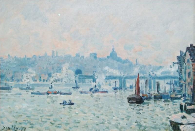 """Alfred Sisley """"Vue de la Tamise, pont de Charing Cross"""" 1874.Un des joyaux de l'exposition ! Après Tate Britain, ce sera le tour du ... ?"""