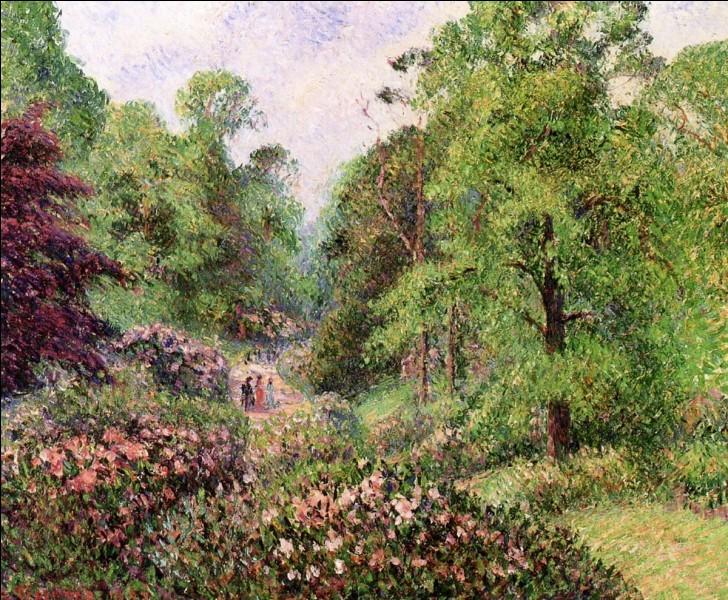 """Camille Pissarro """"... Gardens. Rhododendron Dell"""" 1892. Illustre jardin botanique royale, protégé par l'UNESCO ! Bon sang, son nom ... ?"""