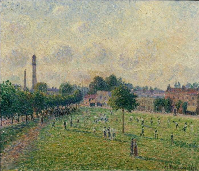"""Camille Pissarro """"Kew Green"""" 1892.Et où était donc né Camille Pissarro ?"""