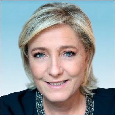 Marine Le Pen est la dirigeante du Rassemblement national en 2018...