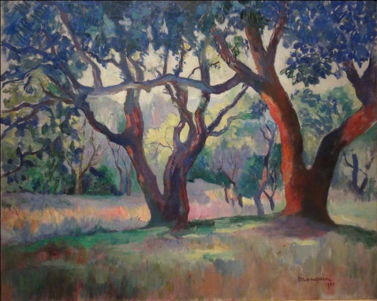À quels artistes vous fait penser cette huile sur toile exposée au salon d'automne 1905 ?