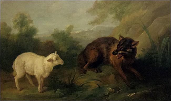 """La morale """"La raison du plus fort est toujours la meilleure"""" est tirée de la fable """"Le Loup et l'Agneau""""."""