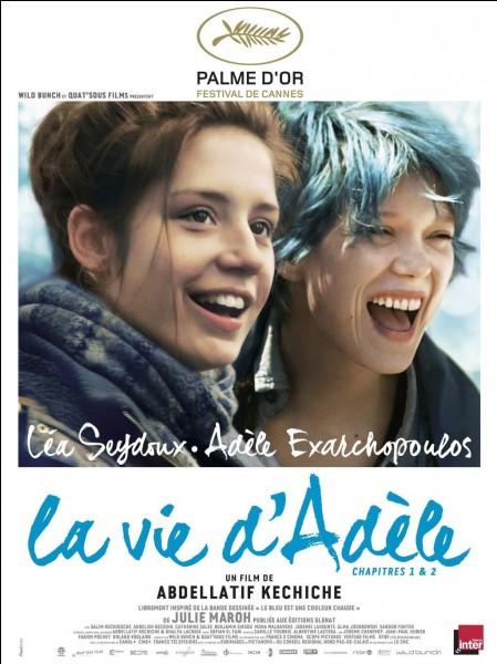 """Le film """"La Vie d'Adèle"""" (2013) a pour actrices principales Adèle Exarchopoulos et Mélanie Laurent."""