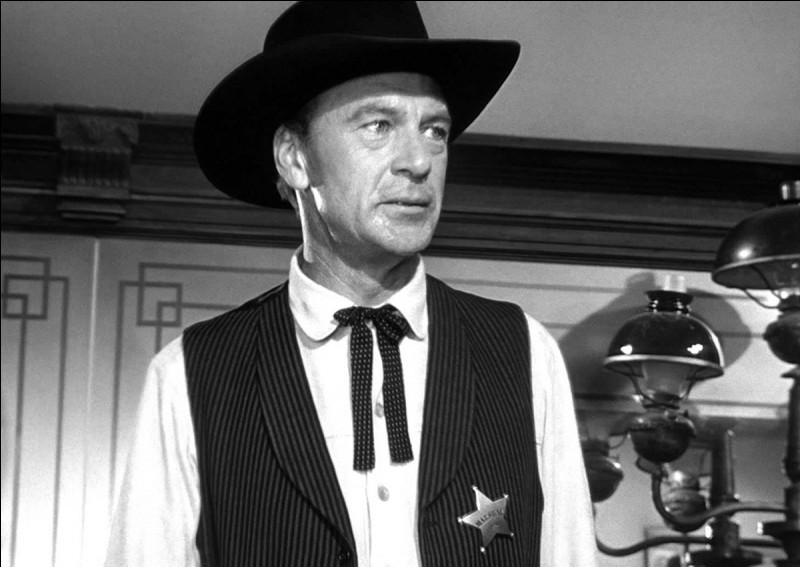 De quelle ville Will Kane est-il le shérif ?