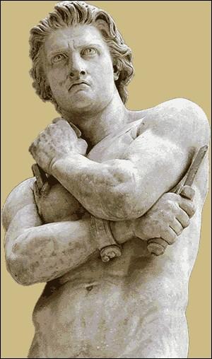 Esclave d'origine thrace, il fut soldat dans l'armée romaine. En fuite, il est fait prisonnier et gladiateur comme mirmillon puis, devint le chef militaire d'une révolte d'esclaves, qui battit, à de nombreuses reprises, les légions romaines (73-71). Il mourut la même journée que 60 000 autres :