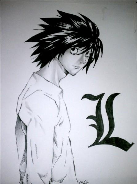 """""""Death Note"""" a pour héros L Lawliet."""