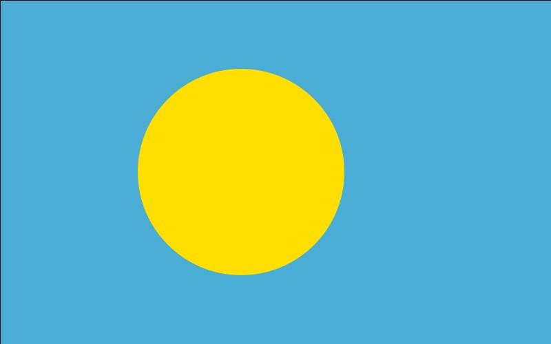 Ce drapeau est celui des Palaos.