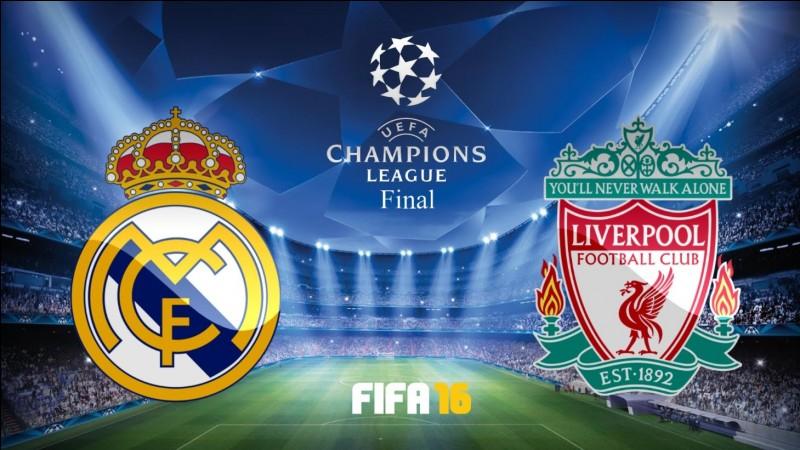 En 2018, quel était le score du match entre le Real Madrid et Liverpool ?