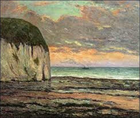 Quel est le nom de ce peintre, graveur et lithographe qui a réalisé, en 1900, ce tableau nommé ''Coucher de soleil sur Yport'' ?