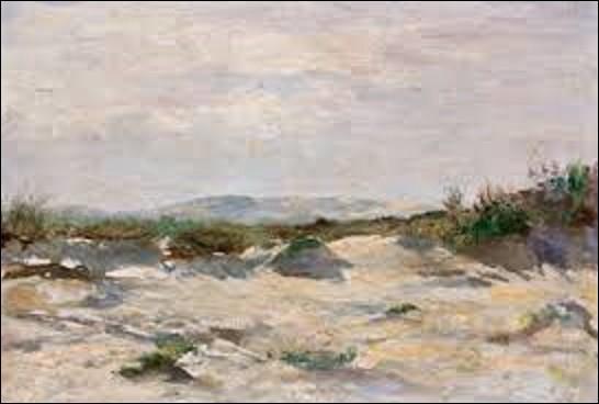 Pourriez-vous me citer le nom de ce peintre naturaliste (1851-1910) qui a peint ce paysage intitulé ''Dunes près de Dieppe'' ?