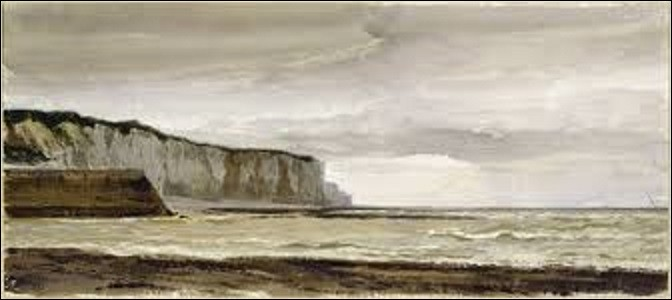 ''Les falaises de Saint-Valéry-en-Caux'' est l'œuvre d'un peintre de mouvement romantisme (1803-1886). Pourriez-vous me citer son nom ?