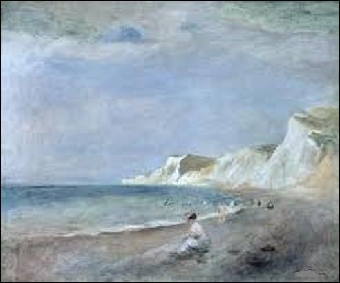 Peinte vers 1880, ''La plage à Varangeville '' est l'œuvre d'un peintre impressionniste. Quel est son nom ?