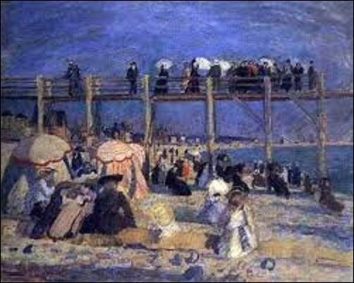 Restons un instant dans la ville du Havre. En 1930, quel peintre de mouvement impressionniste et surtout fauviste, a peint cette toile dénommée ''La plage et l'estacade du Havre'' ?