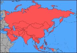 A : Quel pays ne se trouve pas en Asie ?