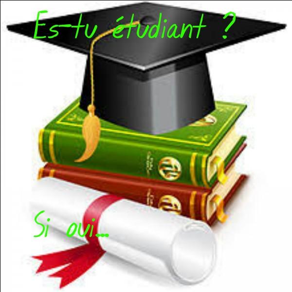 Si tu es étudiant, comment vas-tu le dire ? Quelle est la proposition correcte ?