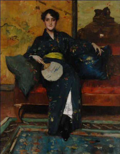 Les artistes font poser leurs modèles dans des lieux clos, souvent associés à des objets d'art décoratif japonais. Lié à l'évocation d'une féminité dont il apparaît comme l'emblème, la plupart des peintres impressionnistes s'emparent de...