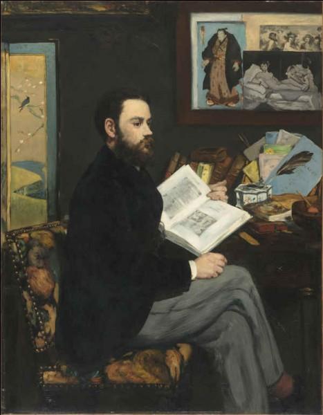Une estampe japonaise accrochée à côté d'une esquisse d'une de ses œuvres, ce portrait de / d' ... par Édouard Manet témoigne de leur présence dans le quotidien des artistes.
