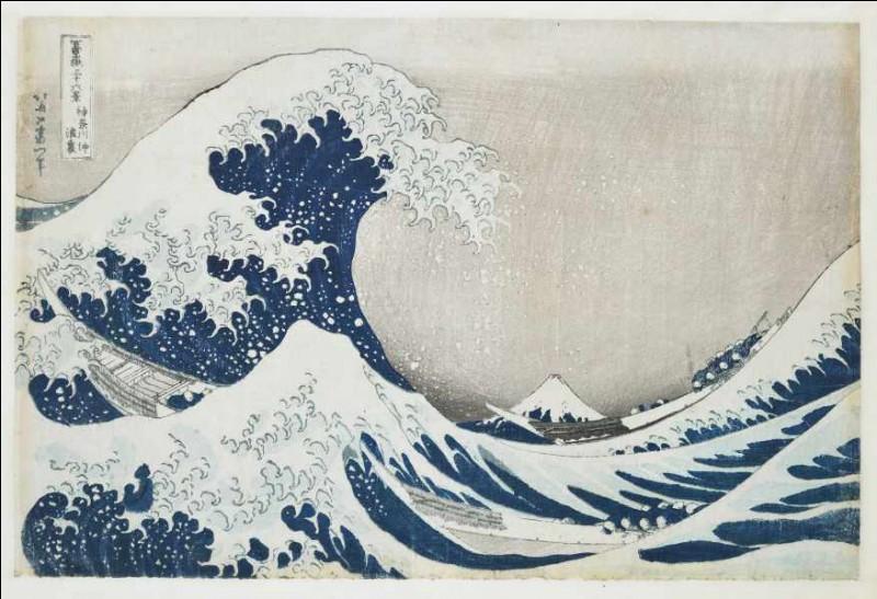 """Des artistes collectionnent alors des estampes japonaises, à l'instar de Claude Monet qui s'intéresse à la série """"Les Trente-Six Vues du ..."""" par Katsushki Hokusai."""