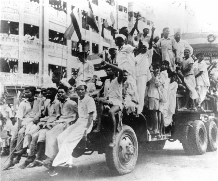 Quelles sont les années de début et de fin de la lutte pour l'indépendance en Inde ?