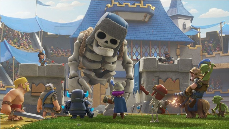 Combien fait la bombe du squelette géant de niveau 4 ?