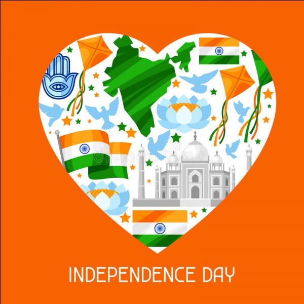 À quelle date le mouvement pour l'indépendance de l'Inde a-t-il abouti ?