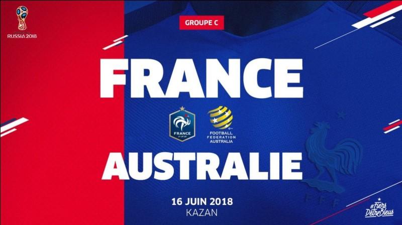 Où se déroulera France-Australie ?