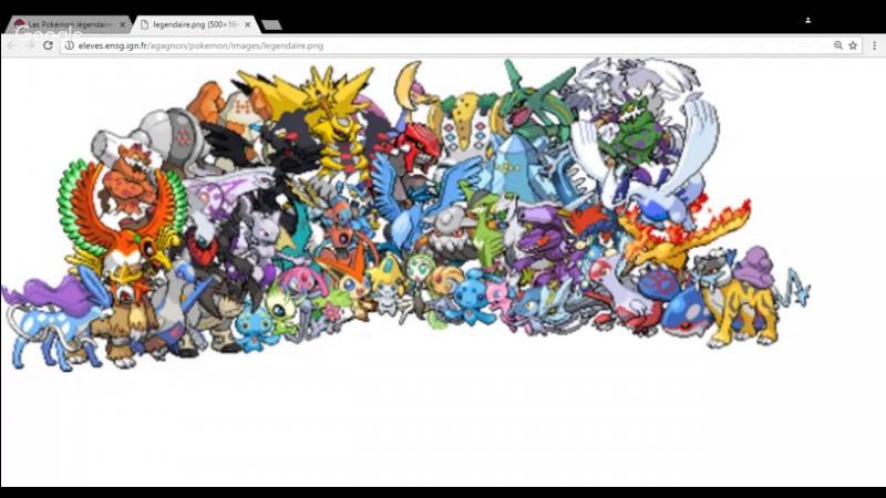 Quels sont tes Pokémon légendaires préférés ?