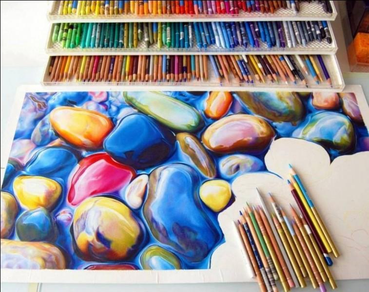 Ce dessin est vraiment beau, certes, et il a été entièrement réalisé avec des crayons de couleur ! Vrai ou faux ?