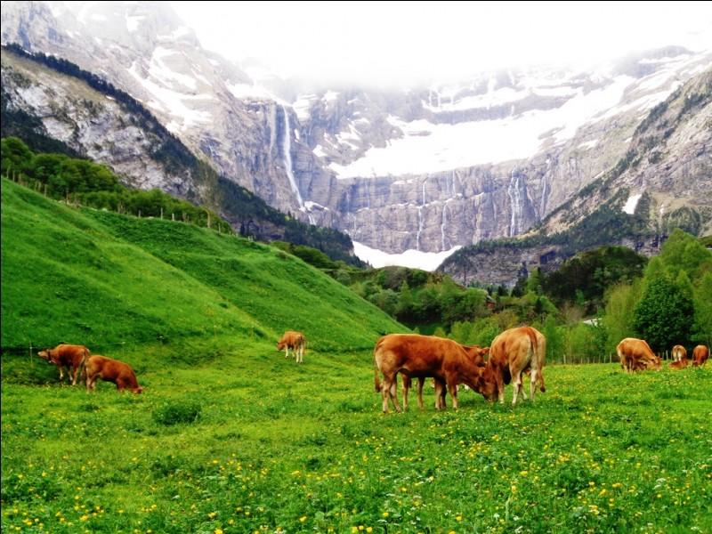 Commençons en France. Cette photo représente le cirque de Gavarnie, dans les Hautes-Pyrénées.