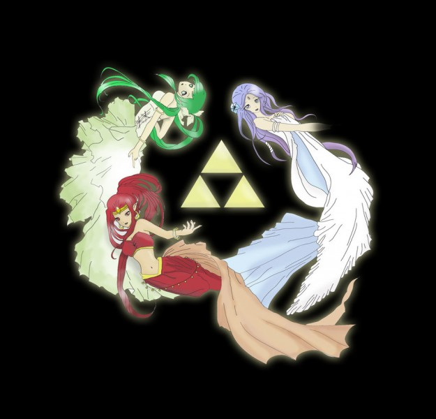 Comment s'appellent les trois déesses de la Triforce ?