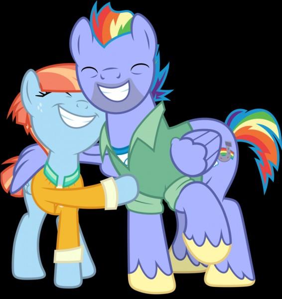 Qui sont les parents de Rainbow Dash ?