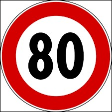 À partir de quelle date la vitesse maximale est abaissée à 80km/h ?