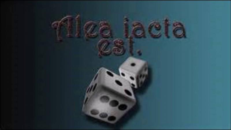 """C'est Cicéron qui aurait prononcé le premier la célèbre locution latine """"Alea jacta est"""". Vrai ou faux ?"""