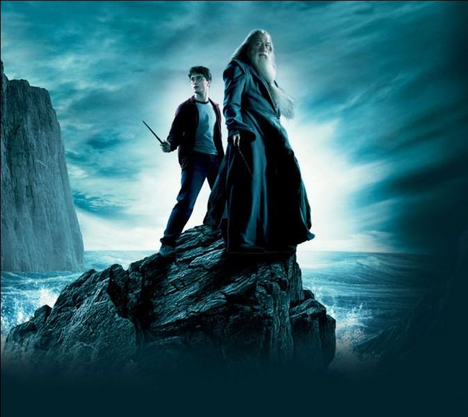 De quelle couleur est la potion que boit Dumbledore dans la caverne ?