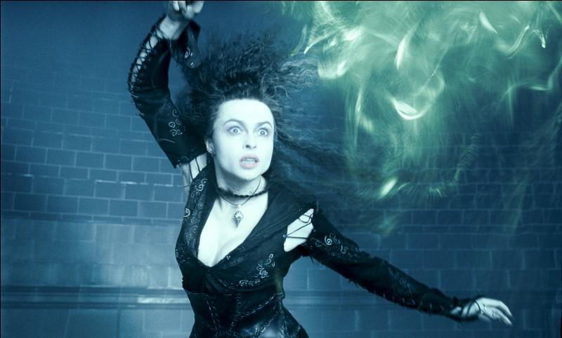 En quel bois est faite la première baguette de Bellatrix Lestrange ?