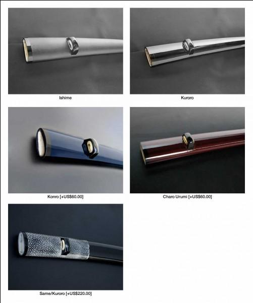 Le fourreau du sabre japonais se nomme :