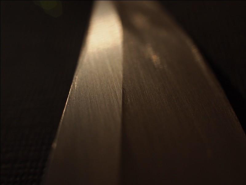 L'arête latérale de la lame qui délimite le plat du tranchant s'appelle :