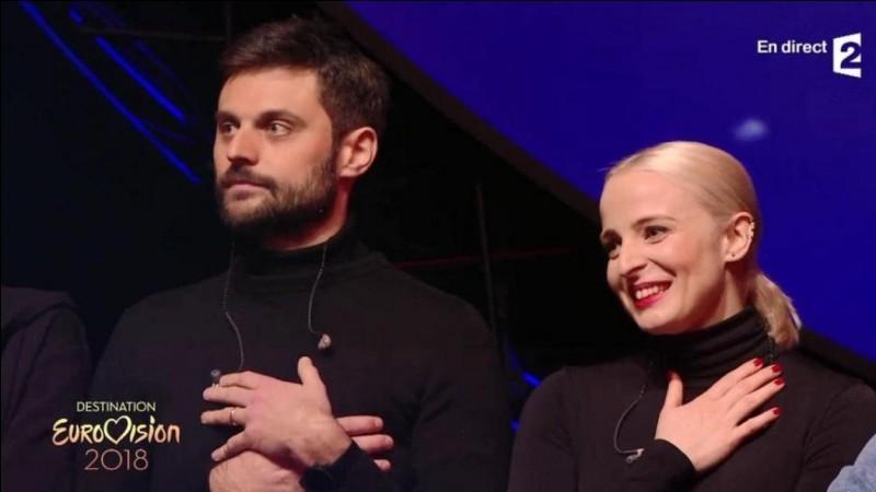 """Le 27 janvier 2018, Madame Monsieur sont sélectionnés pour représenter la France à l'Eurovision avec leur chanson """"Mercy"""". Parmi ces propositions, quelle affirmation est juste à propos de cette participation ?"""